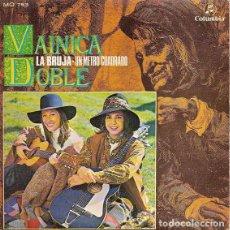 Discos de vinilo: VAINICA DOBLE SINGLE LA BRUJA / UN METRO CUADRADO 1970. Lote 194492483