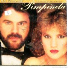 Discos de vinilo: PIMPINELA CON DYANGO / POR ESE HOMBRE (SINGLE PROMO 1986) SOLO CARA A. Lote 194495530