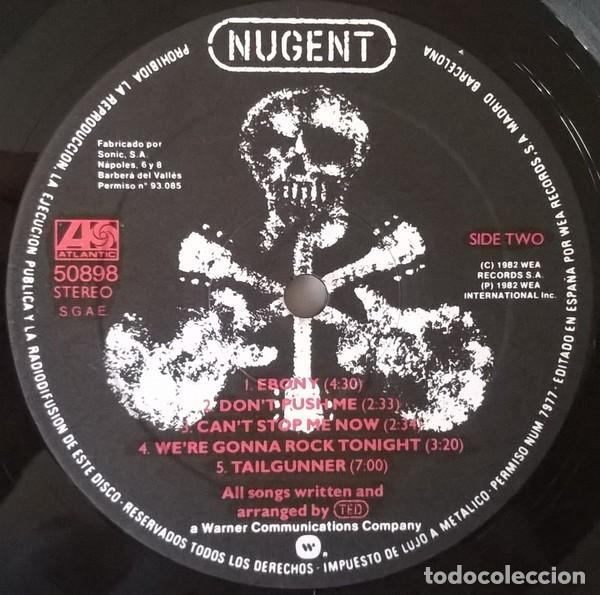 Discos de vinilo: Ted Nugent ‎– Nugent lp spain 1982 rock heavy - Foto 4 - 194496601