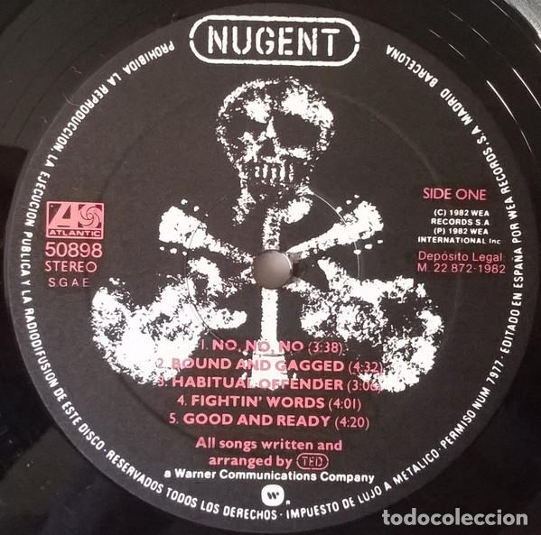 Discos de vinilo: Ted Nugent ‎– Nugent lp spain 1982 rock heavy - Foto 5 - 194496601