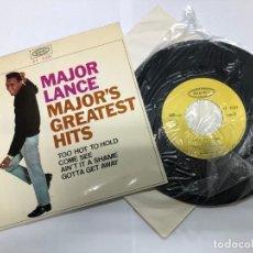 Disques de vinyle: EP MAJOR LANCE / MAJOR'S GREATEST HITS EDITADO EN ESPAÑA POR EPIC /DISCOPHON VG++. Lote 194497028