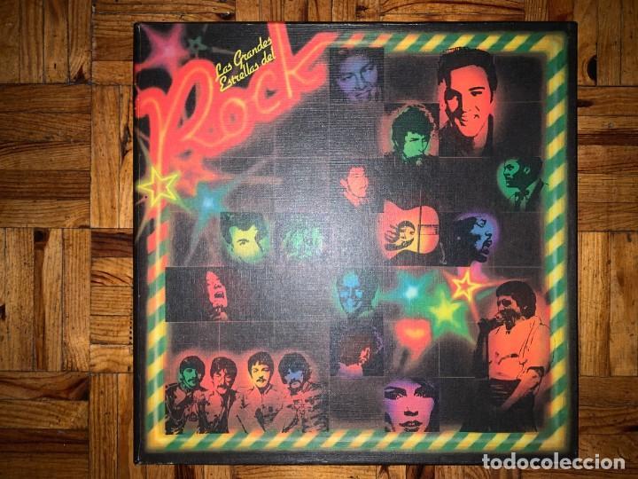 LAS GRANDES ESTRELLAS DEL ROCK - CAJA CON 10 LPS (Música - Discos - LP Vinilo - Pop - Rock Extranjero de los 50 y 60)