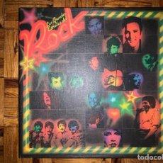 Discos de vinilo: LAS GRANDES ESTRELLAS DEL ROCK - CAJA CON 10 LPS. Lote 194498643