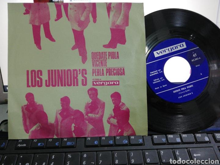 LOS JUNIOR'S SINGLE QUÉDATE PIOLA VICENTE 1970 (Música - Discos - Singles Vinilo - Grupos Españoles 50 y 60)