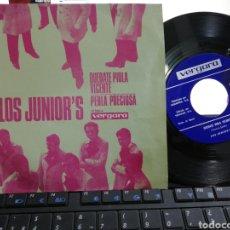 Discos de vinilo: LOS JUNIOR'S SINGLE QUÉDATE PIOLA VICENTE 1970. Lote 194500902