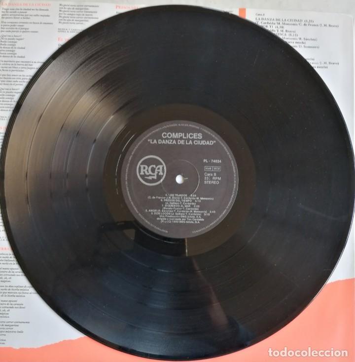 Discos de vinilo: Complices* – La Danza De La Ciudad, RCA, BMG Ariola España -PL 74624 (5C) - Foto 3 - 194501131