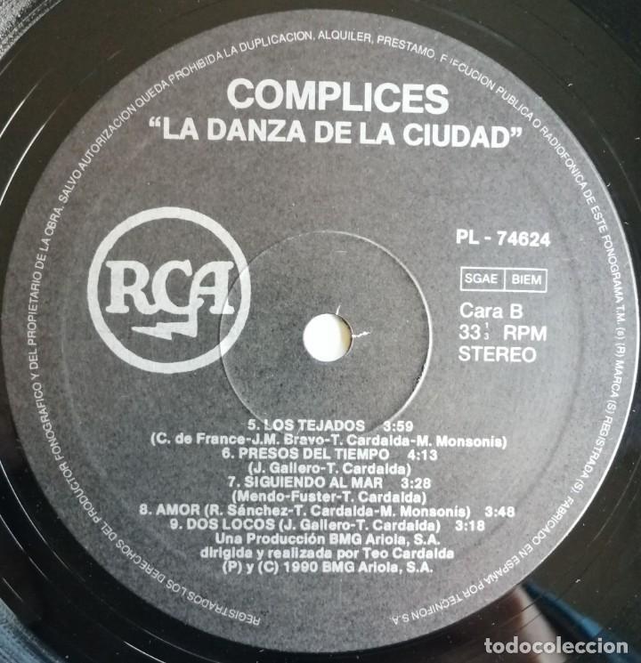 Discos de vinilo: Complices* – La Danza De La Ciudad, RCA, BMG Ariola España -PL 74624 (5C) - Foto 4 - 194501131