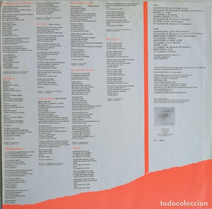 Discos de vinilo: Complices* – La Danza De La Ciudad, RCA, BMG Ariola España -PL 74624 (5C) - Foto 7 - 194501131