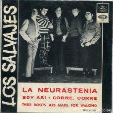 Disques de vinyle: LOS SALVAJES (SOLO CARATULA) FIRMADA. Lote 194501910