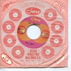 Discos de vinilo: LOS SOLITARIOS / OJOS NEGROS / MI HUANCAYO (SINGLE ORIGINAL PERUANO). Lote 194503185