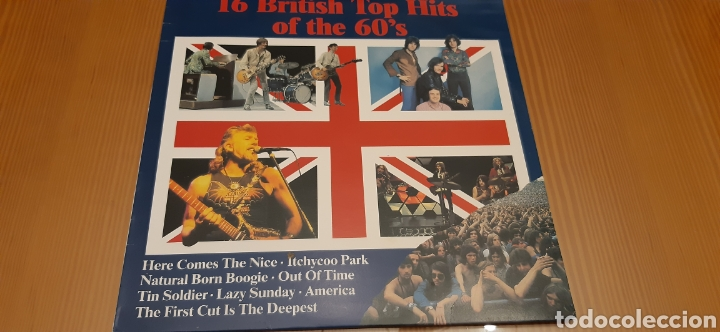 DISCO VINILO LP 16 BRITISH TOP HITS OF THE 60'S (Música - Discos - LP Vinilo - Pop - Rock Extranjero de los 50 y 60)