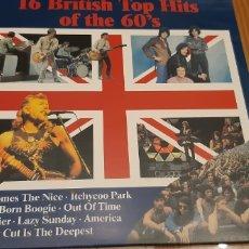 Discos de vinilo: DISCO VINILO LP 16 BRITISH TOP HITS OF THE 60'S. Lote 194503190