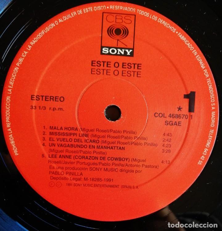 Discos de vinilo: Este O Este – Este O Este, CBS/Sony COL 468670 1 - Foto 7 - 194506105