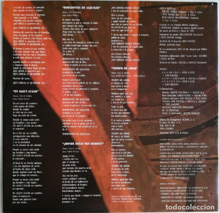 Discos de vinilo: Este O Este – Este O Este, CBS/Sony COL 468670 1 - Foto 8 - 194506105
