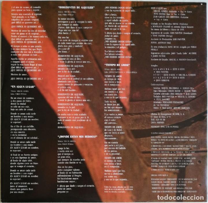 Discos de vinilo: Este O Este – Este O Este, CBS/Sony COL 468670 1 - Foto 10 - 194506105