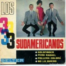 Discos de vinilo: LOS 3 SUDAMERICANOS / GOLDFINGER + 3 (EP 1965). Lote 194506506