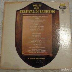 Discos de vinilo: FESTIVAL DI SANREMO 1959 - VOL. II - MARINO MARINI, RUGGERO CORI, AURELIO FIERRO, NELLA COLOMBO,. Lote 194506525