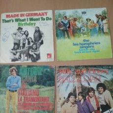 Discos de vinilo: LOTE 4 SINGLES POP INTERNACIONAL.. Lote 194507607
