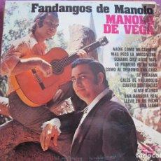 Disques de vinyle: MANOLO DE VEGA - FANDANGOS DE MANOLO (SPAIN, OLYMPO 1977). Lote 194508491