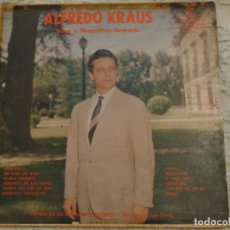 Discos de vinilo: ALFREDO KRAUS - SINGS A NAPOLITAN SERENADE - SELLO MONTILLA FM - 129 - VENEZUELA - MUY RARO DIFÍCIL. Lote 194509317