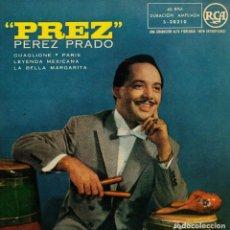 Discos de vinilo: PEREZ PRADO - GUAGLIONE + 3 - EP SPAIN AÑOS 50 . Lote 194509352