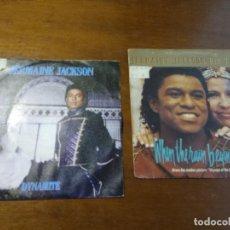 Discos de vinilo: LOTE JERMAINE JACKSON DOS SINGLES-EDICION ESPAÑOLA. Lote 194509393