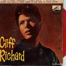 Discos de vinilo: CLIFF RICHARD - GOT A FUNNY FEELING + 3 - EP SPAIN 1962 - VINILO ROJO. Lote 194509626