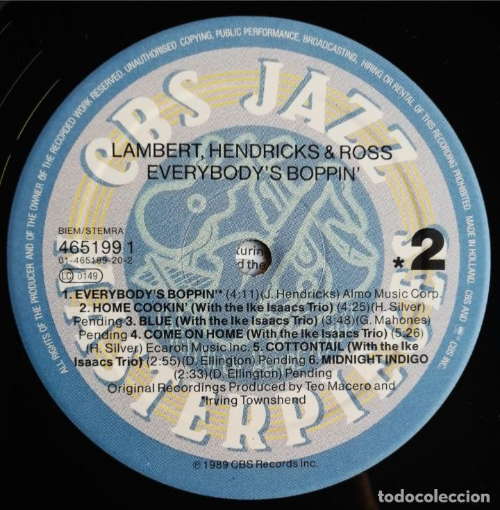 Discos de vinilo: Lambert, Hendricks & Ross – Everybodys Boppin, CBS 465199 1 - Foto 4 - 194509770