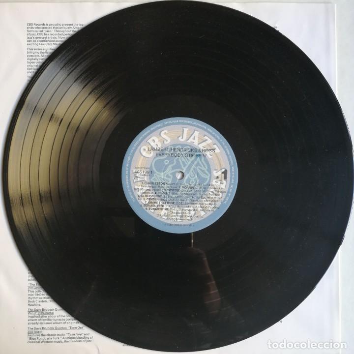 Discos de vinilo: Lambert, Hendricks & Ross – Everybodys Boppin, CBS 465199 1 - Foto 5 - 194509770