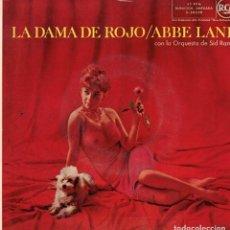 Discos de vinilo: ABBE LANE - LA DAMA DE ROJO - EP SPAIN 1959 . Lote 194509995