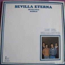 Discos de vinilo: LP - SEVILLANAS - LOS DEL GUADALQUIVIR - SEVILLA ETERNA (SPAIN, IZQUIERDO 1981, PORTADA DOBLE). Lote 194510393