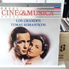 Discos de vinilo: CINE & MÚSICA LOS GRANDES TEMAS ROMANTICOS. Lote 194510608