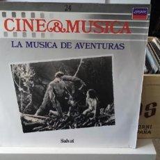 Discos de vinilo: CINE & MÚSICA LA MÚSICA DE AVENTURAS. Lote 194510992