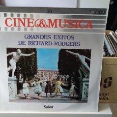 Discos de vinilo: CINE & MÚSICA GRANDES EXITOS DE RICHERD RODGERS. Lote 194511102