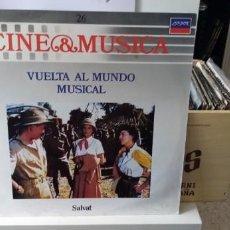 Discos de vinilo: CINE & MÚSICA VUELTA AL MUNDO MUSICAL. Lote 194511290