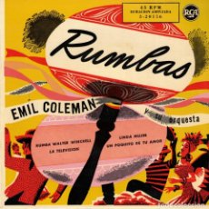 Discos de vinilo: EMIL COLEMAN - RUMBAS - LINDA MUJER + 3 - EP SPAIN 1958 . Lote 194511498