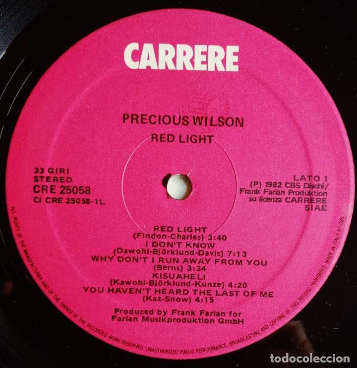 Discos de vinilo: Precious Wilson – Red Light, Carrere CRE 25058 - Foto 5 - 194512306