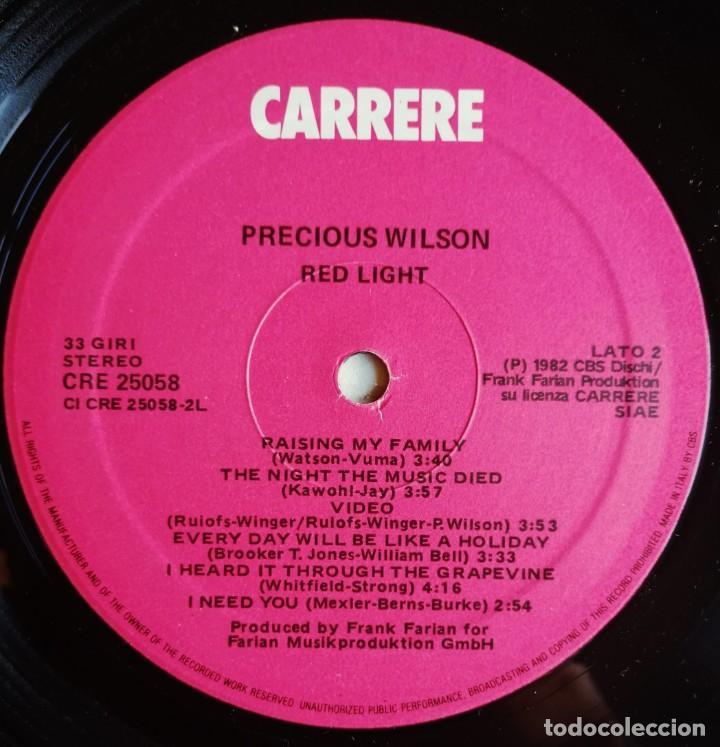 Discos de vinilo: Precious Wilson – Red Light, Carrere CRE 25058 - Foto 7 - 194512306
