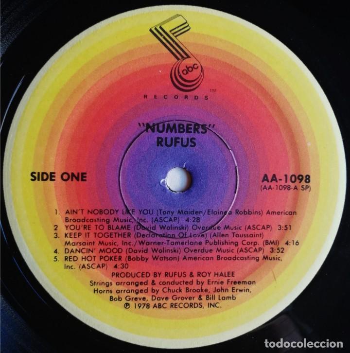 Discos de vinilo: Rufus – Numbers, ABC Records AA-1098 - Foto 6 - 194512860