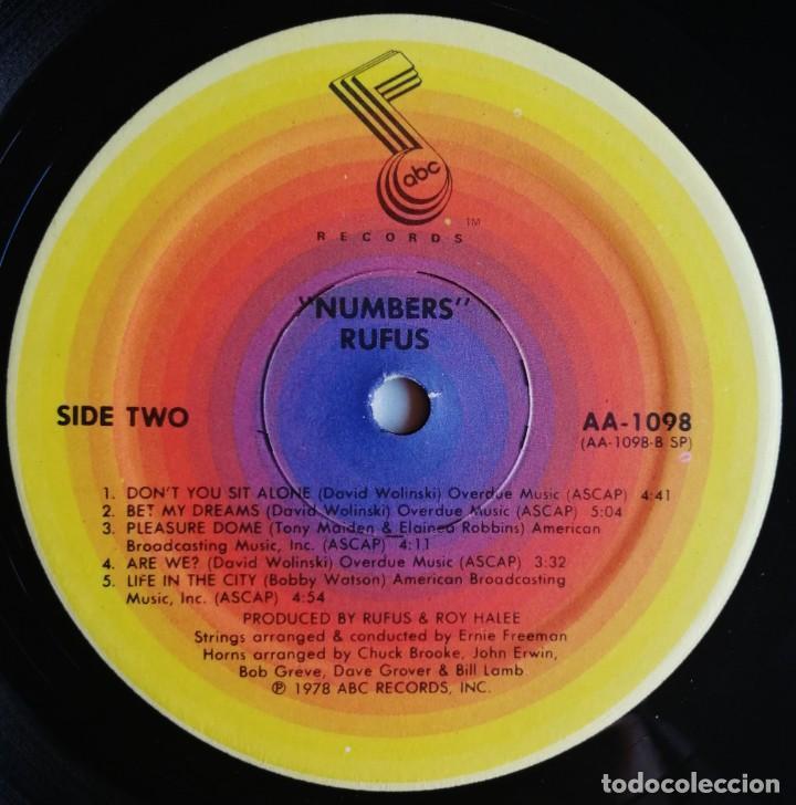 Discos de vinilo: Rufus – Numbers, ABC Records AA-1098 - Foto 8 - 194512860