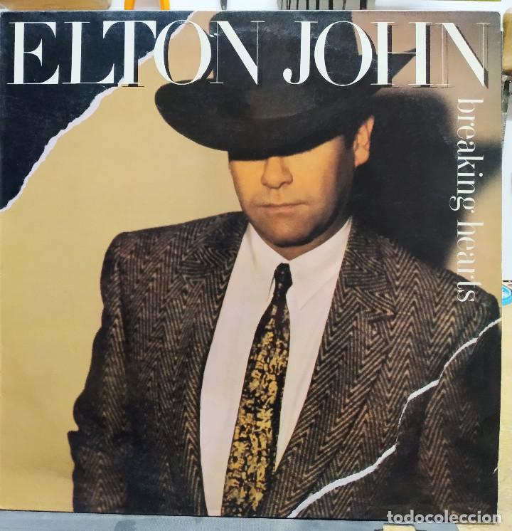 ELTON YONG BREAKING HEARTS (Música - Discos - LP Vinilo - Pop - Rock - New Wave Extranjero de los 80)