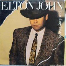 Discos de vinilo: ELTON YONG BREAKING HEARTS. Lote 194514288
