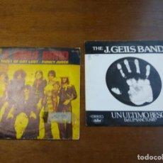 Discos de vinilo: LOTE- J .GEILS BAND- DOS SINGLES-EDICIONES ESPAÑOLAS. Lote 194515017