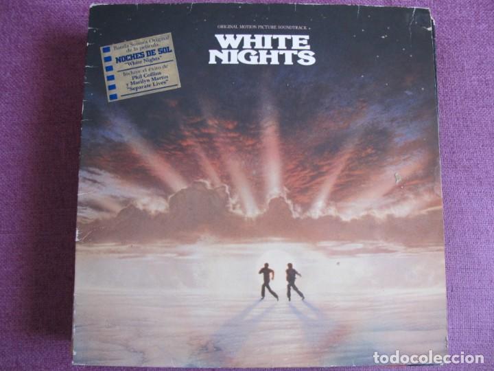LP - WHITE NIGHTS - VARIOS (ROBERT PLANT, LOU REED, PHIL COLLINS, ETC...) (SPAIN, ATLANTIC 1985) (Música - Discos - LP Vinilo - Bandas Sonoras y Música de Actores )