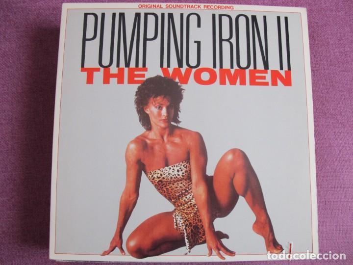 LP - PUMPING IRON II, THE WOMEN - VARIOS (USA, ISLAND RECORDS 1989) (Música - Discos - LP Vinilo - Bandas Sonoras y Música de Actores )