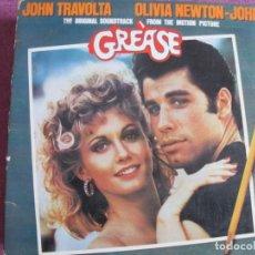 Discos de vinilo: LP - GREASE - JOHN TRAVOLTA WITH OLIVIA NEWTON-JOHN (DOBLE DISCO, RSO 1976). Lote 194515800