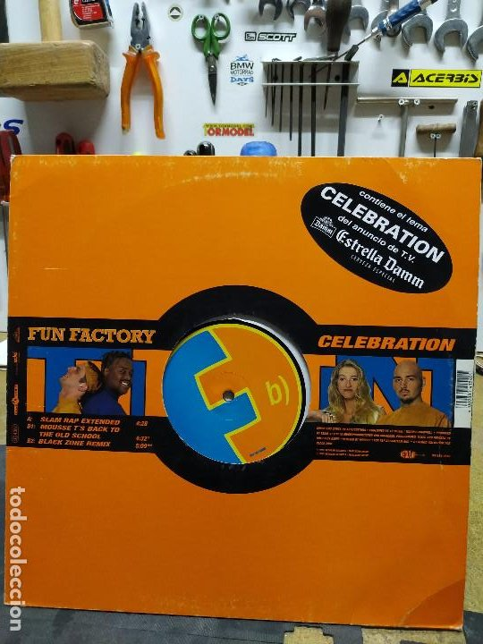 FUN FACTORY	CELEBRATION (Música - Discos de Vinilo - Maxi Singles - Techno, Trance y House)
