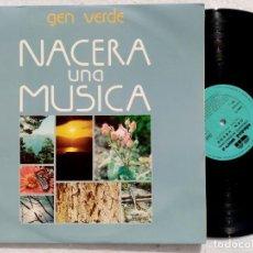 Discos de vinilo: GEN VERDE - NACERA UNA MUSICA - LP 1980 - CIUDAD NUEVA. Lote 194517575