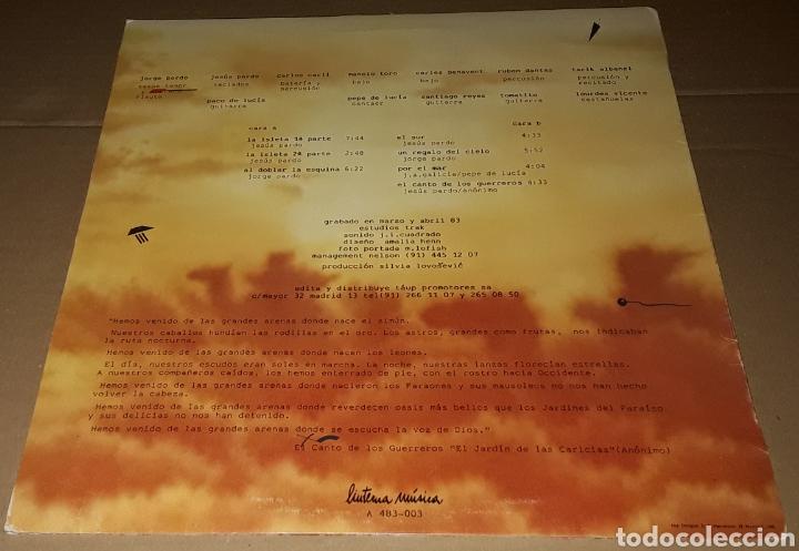 Discos de vinilo: LP- JORGE PARDO - EL CANTO DE LOS GUERREROS - PACO DE LUCIA, CARLES BENAVENT,TOMATITO,PEPE DE LUCIA - Foto 2 - 194517612