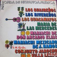 Discos de vinilo: LP - RONDA DE HISPANOAMERICA - VARIOS (SPAIN, DISCOPHON 1972). Lote 194518056